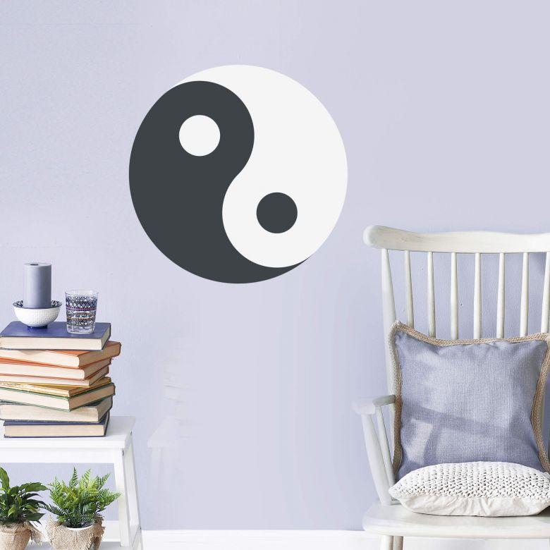 Wandtattoo Emoji Yin Yang