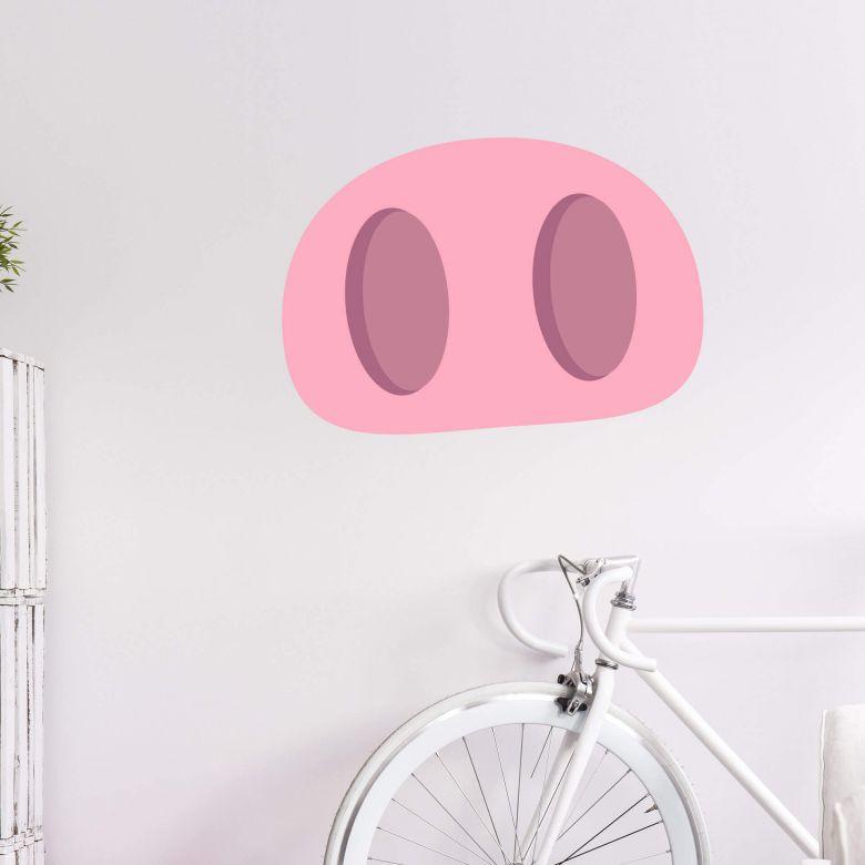 Wall Sticker Emoji Pig Nose