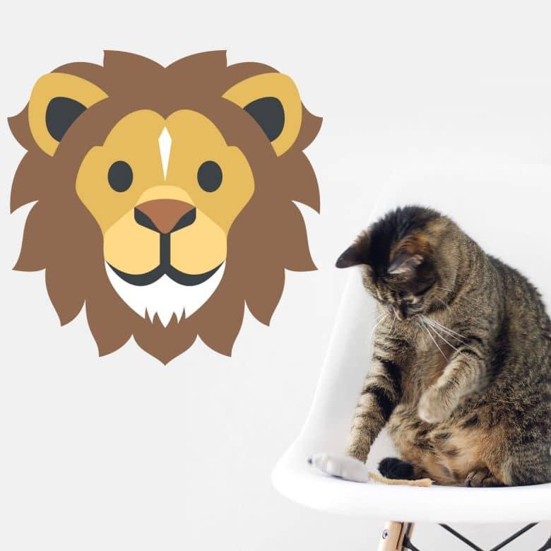 Wall Sticker Emoji Lion