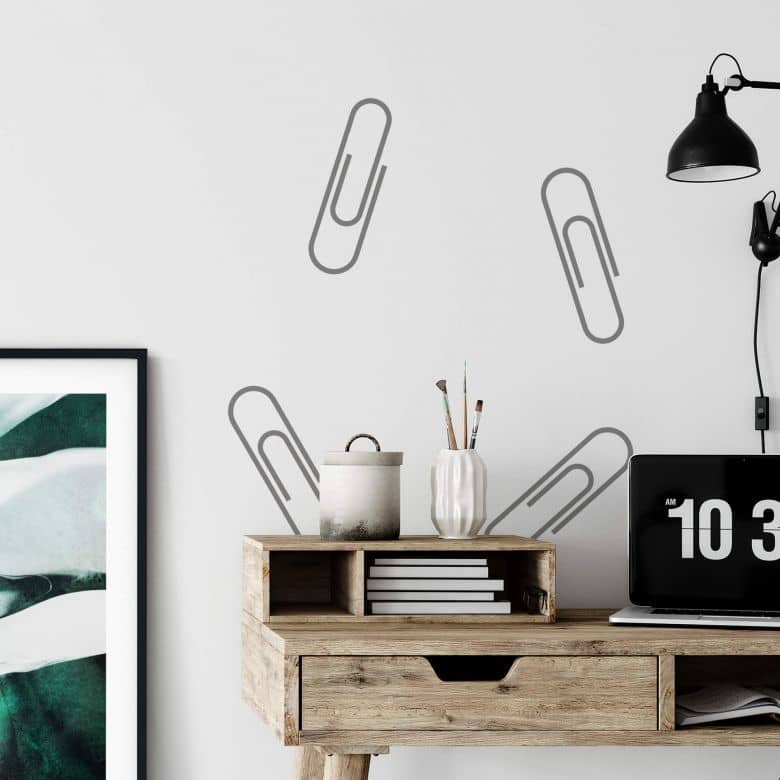 Wall sticker set Paperclips