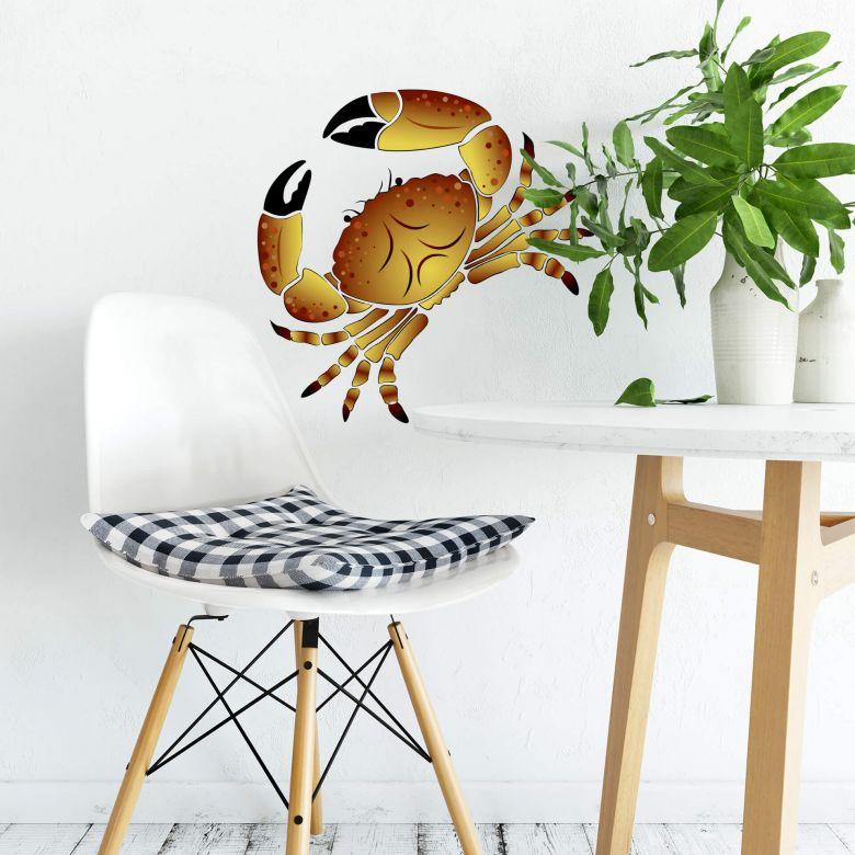 Sticker mural - Crabe 2