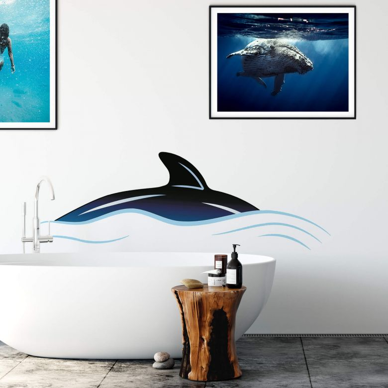 Whale Fin Wall sticker