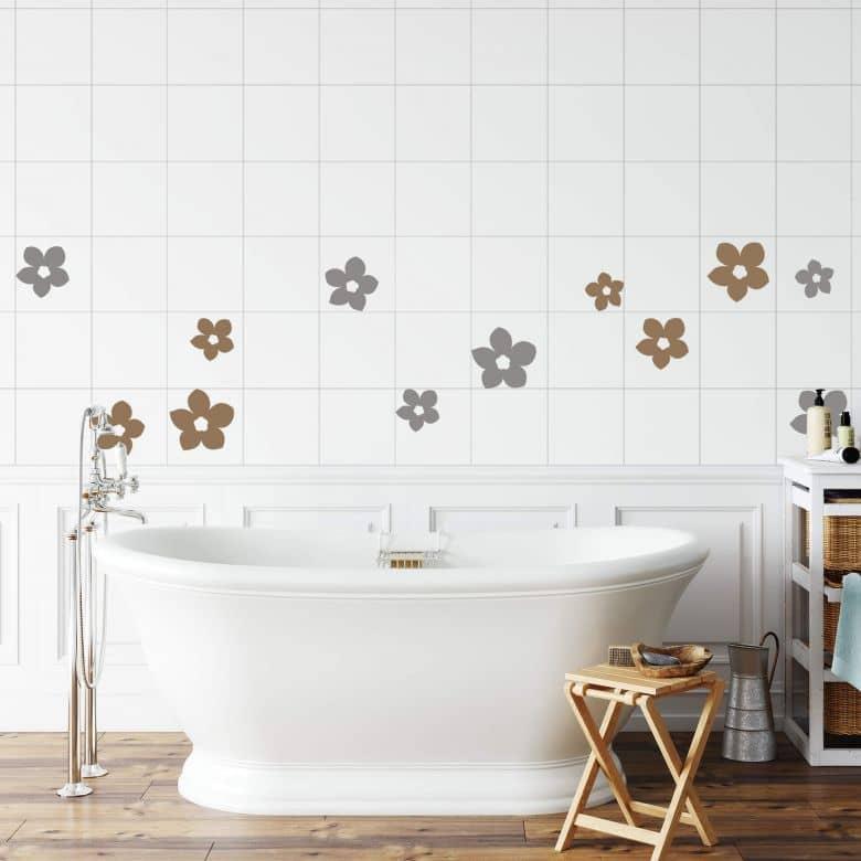 Fliesendekor Bluten Zum Badezimmer Dekorieren Wall Art De