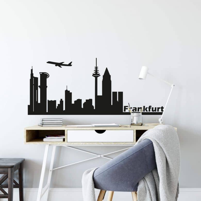Wandtattoo Frankfurt Skyline 1