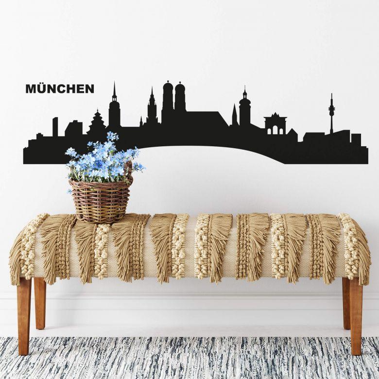 Wandtattoo München Skyline 1