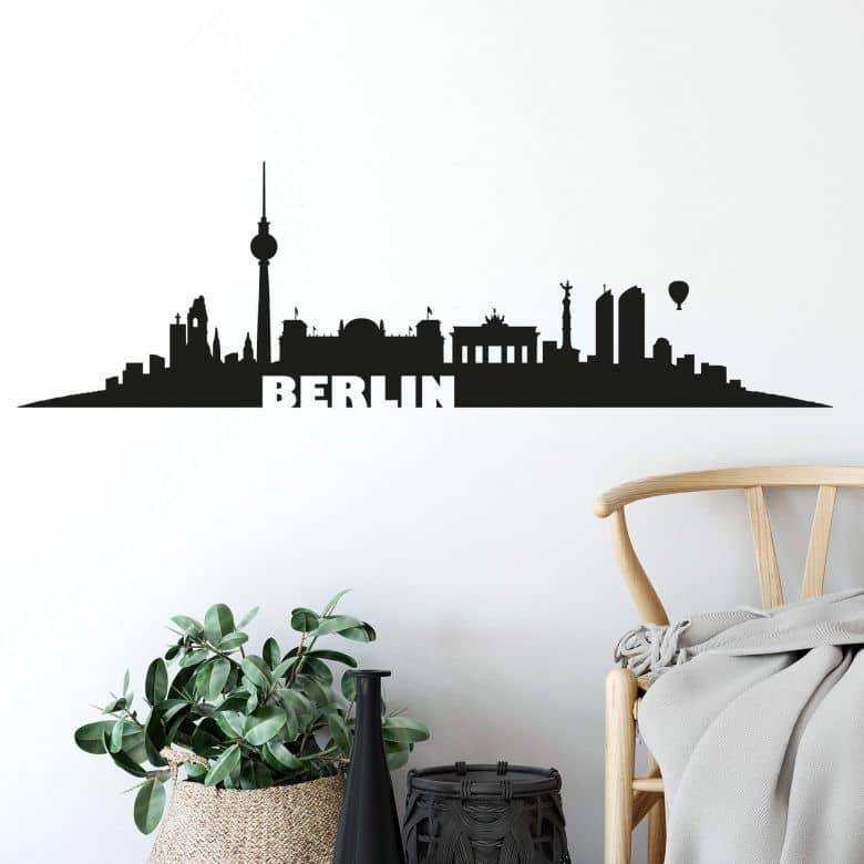 Wandtattoo Berlin Skyline