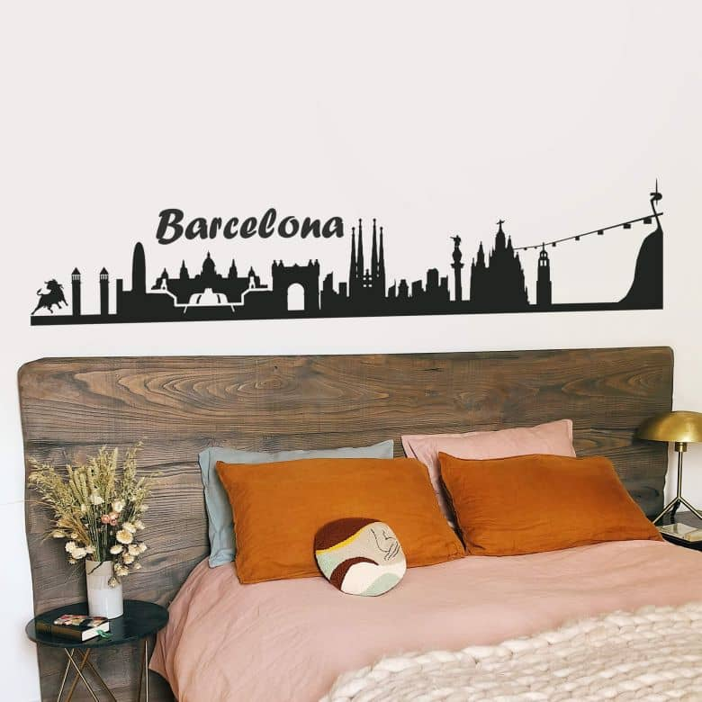 Barcelona Skyline Wall sticker