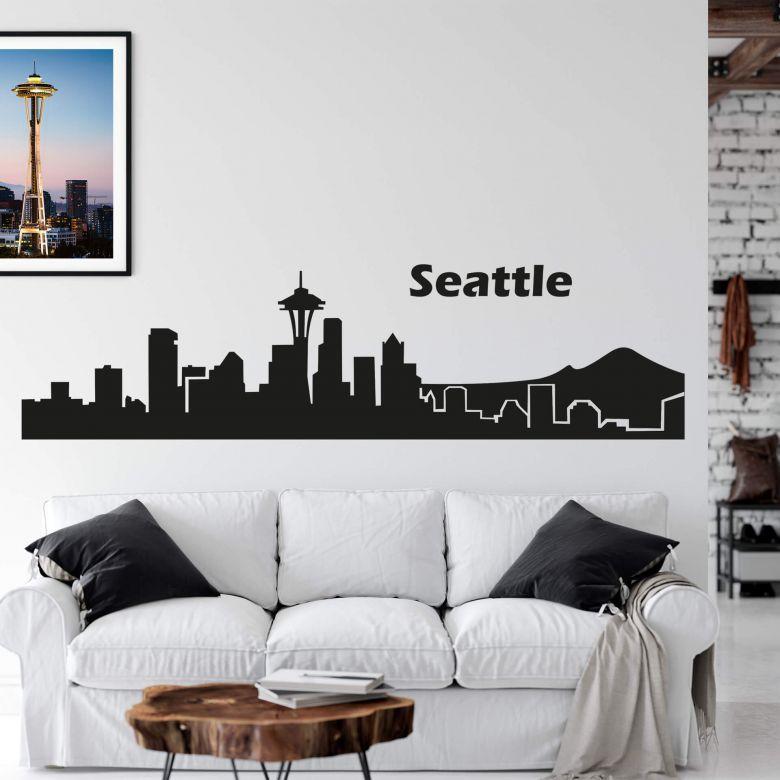 Sticker mural - Seattle