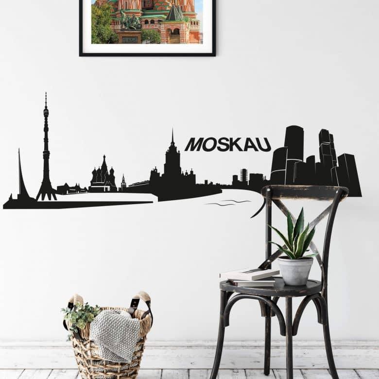 Adesivo murale - Profilo di Mosca