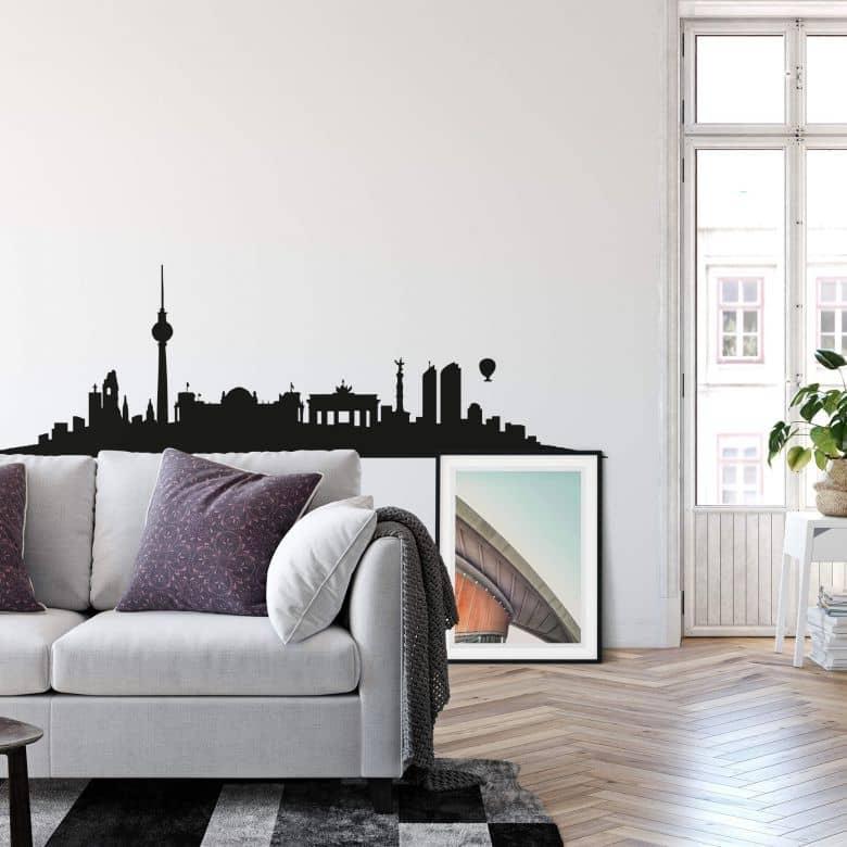 Adesivo murale - Profilo di Berlino (senza scritta)