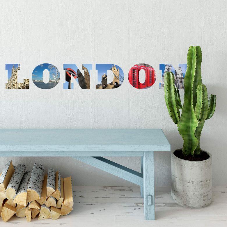 Muursticker Impressie van Londen