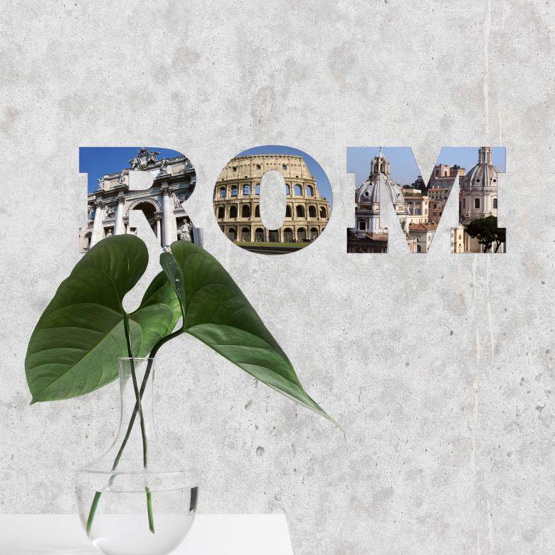wandtattoo rom impression italienische dekoration wall. Black Bedroom Furniture Sets. Home Design Ideas