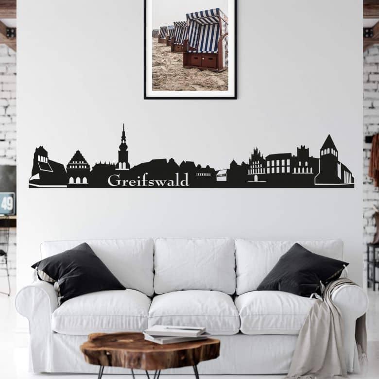 Wandtattoo Greifswald Skyline Schones Wandtattoo Mit Der Skyline Von Greifswald An Der Ostsee Wall Art De