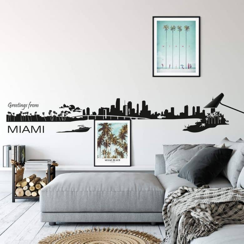 Adesivo murale - Profilo di Miami