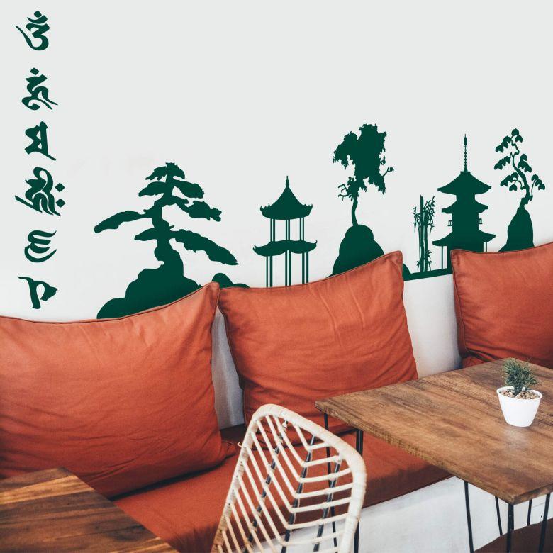Profilo paesaggio asiatico