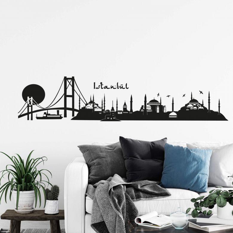Istanbul Skyline 2 Wall sticker