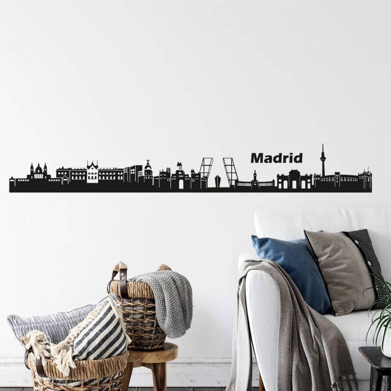 Wandtattoo Madrid Skyline