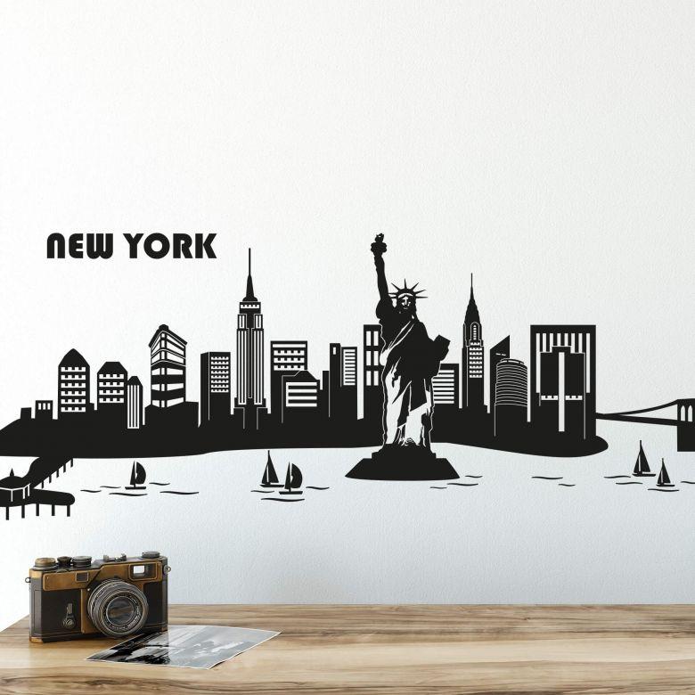 New York Skyline 2 Wall sticker