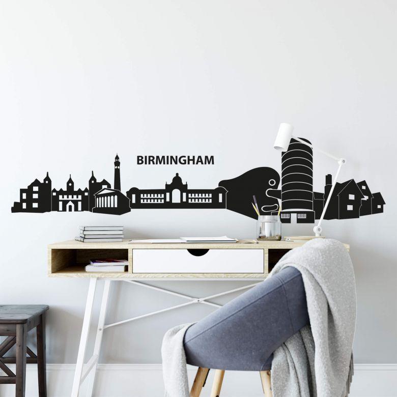Wandtattoo Birmingham Skyline