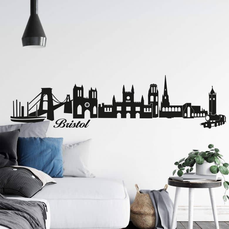 Muursticker Bristol Skyline