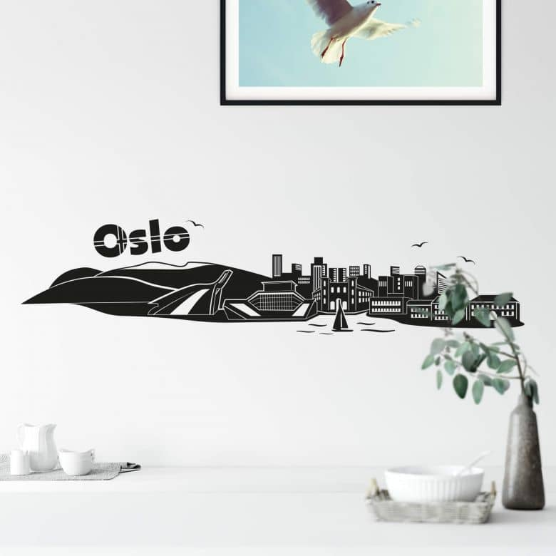 Wandtattoo Oslo Skyline