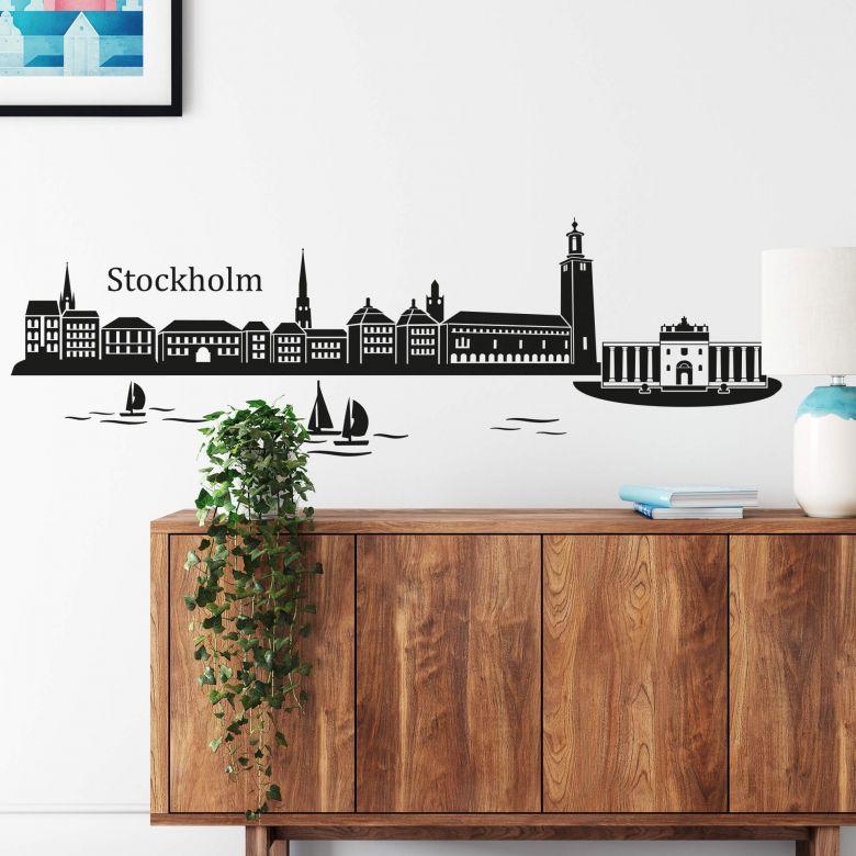 Stockholm Skyline Wall sticker