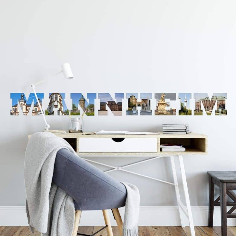 wandtattoo mannheim impressionen der uni stadt wall. Black Bedroom Furniture Sets. Home Design Ideas