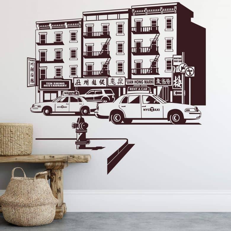 Sticker mural - New York Chinatown