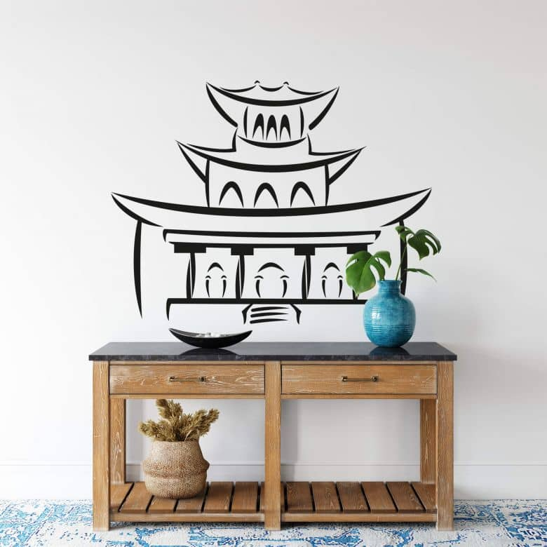 Chinese Temple Wall Sticker