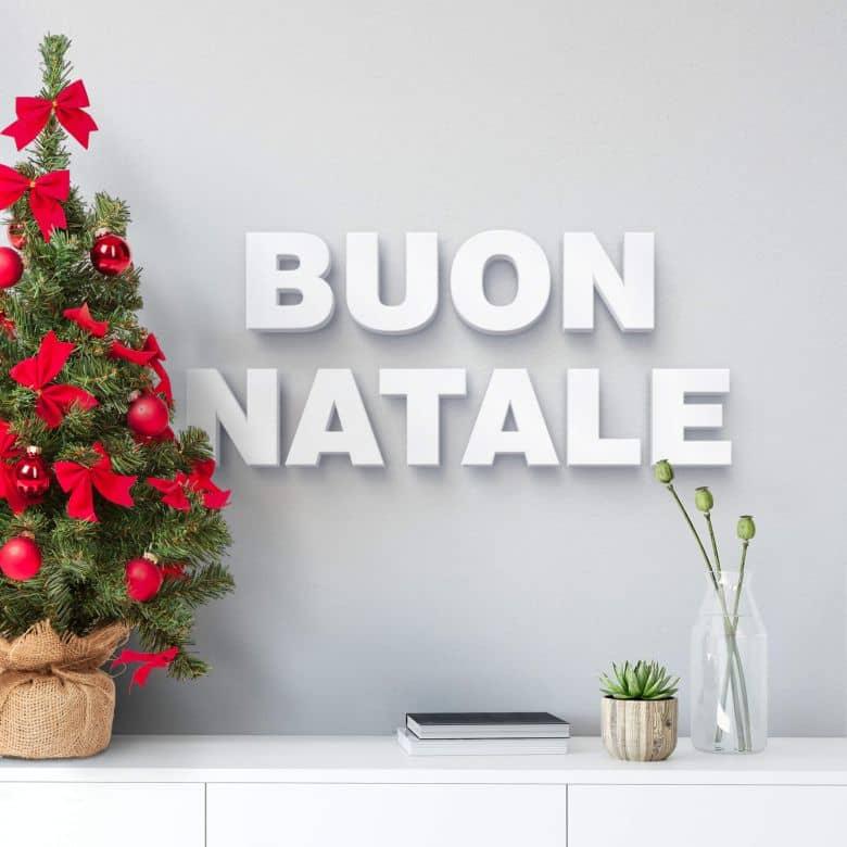 Buon Natale 3d.Lettere 3d Buon Natale Wall Art It