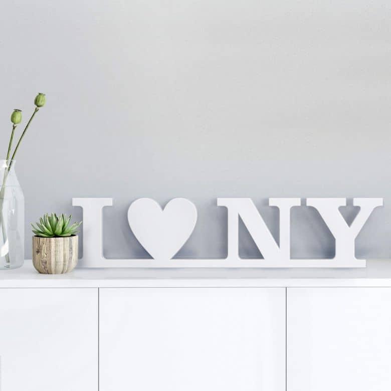 Dekobuchstaben 3D I love NY