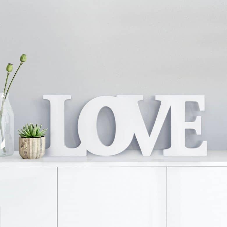 Decoratieletters   3D Decoratietekst LOVE