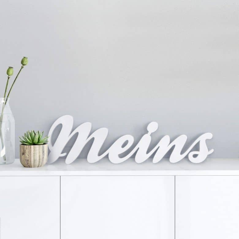 Dekobuchstaben 3D Meins