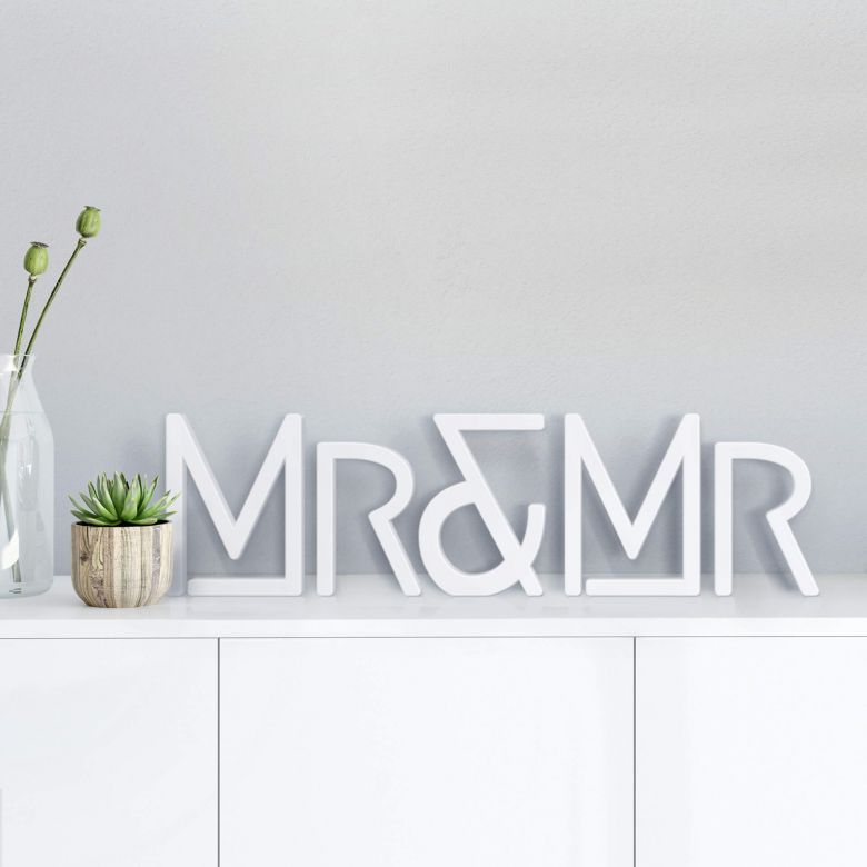 Lettres décoratives Mr & Mr modern