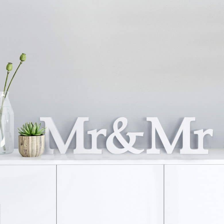 Lettres décoratives 3D Mr & Mr serife