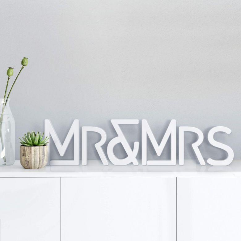 Lettre décorative - 3D Mr & Mrs -Moderne-