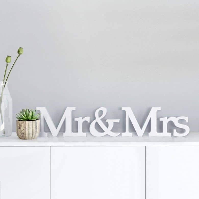 Dekobuchstaben 3D Mr & Mrs -Serife-