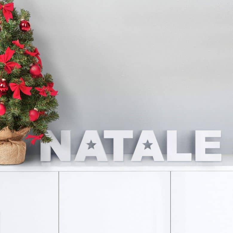 Dekobuchstabe 3D Natale