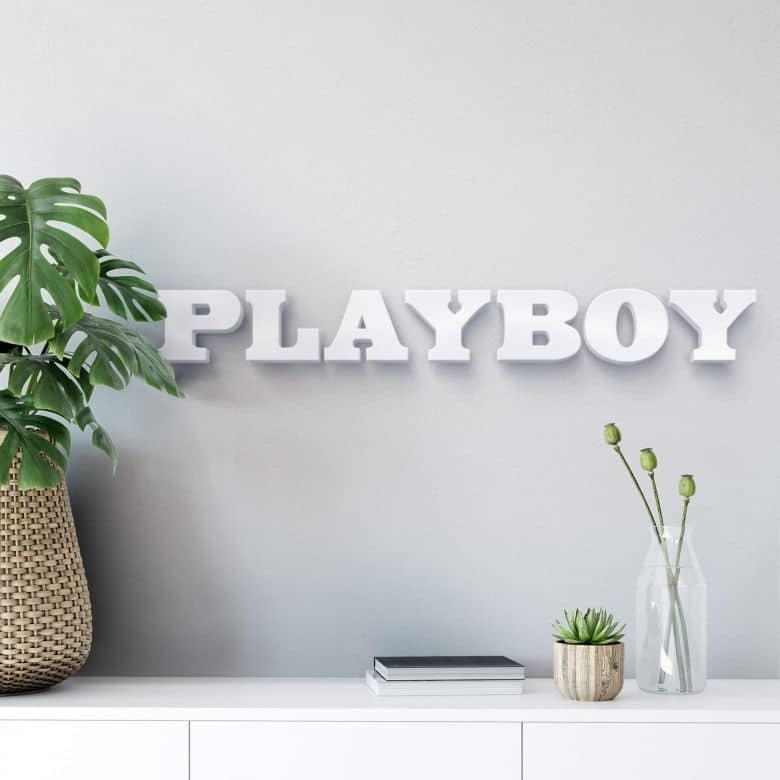 Decoratieletters   3D Playboy Decoratieletters