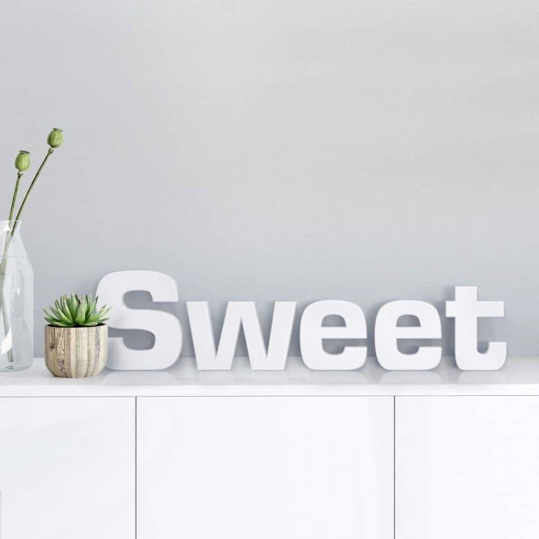 3D Sweet 3D letter