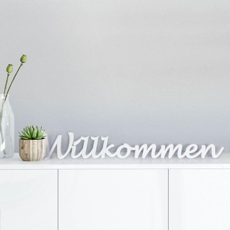 Lettres décoratives - Willkommen