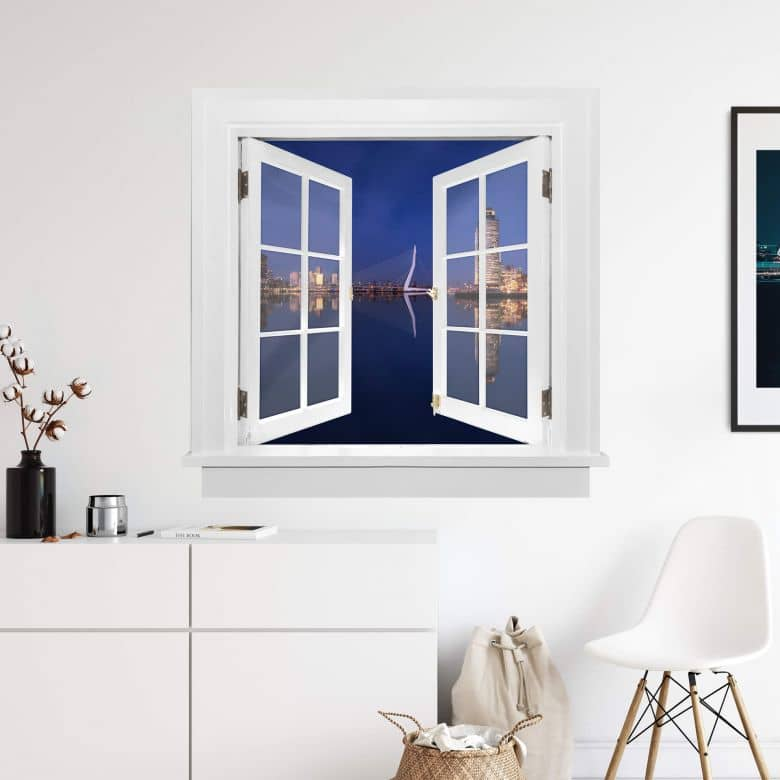 3D Wandtattoo Doppelfenster Pablo - Rotterdam