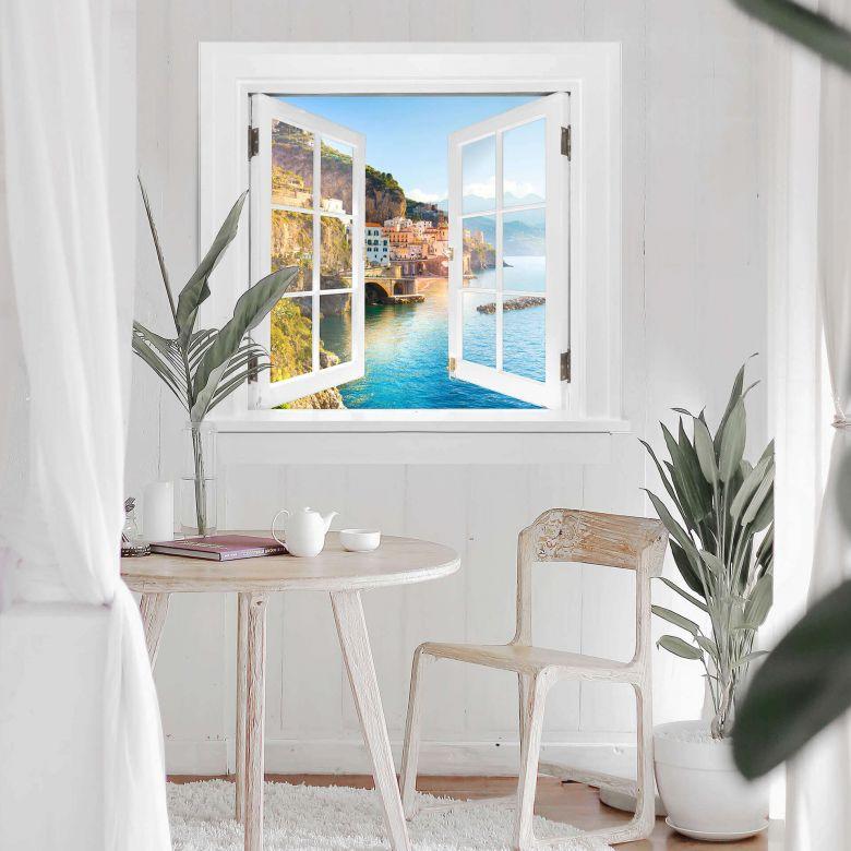 Trompe L'oeil Wall sticker - Campania in Italy
