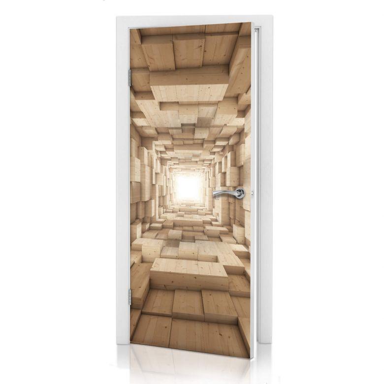 3D Türdesign Holz-Tunnel