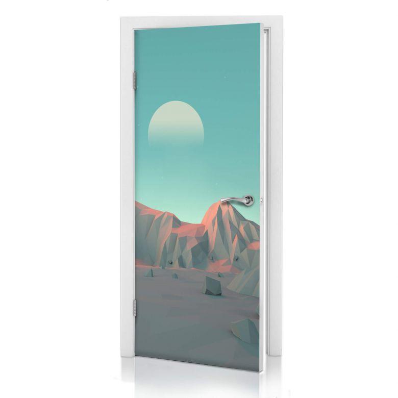 3D Türdesign Low Poly Berge