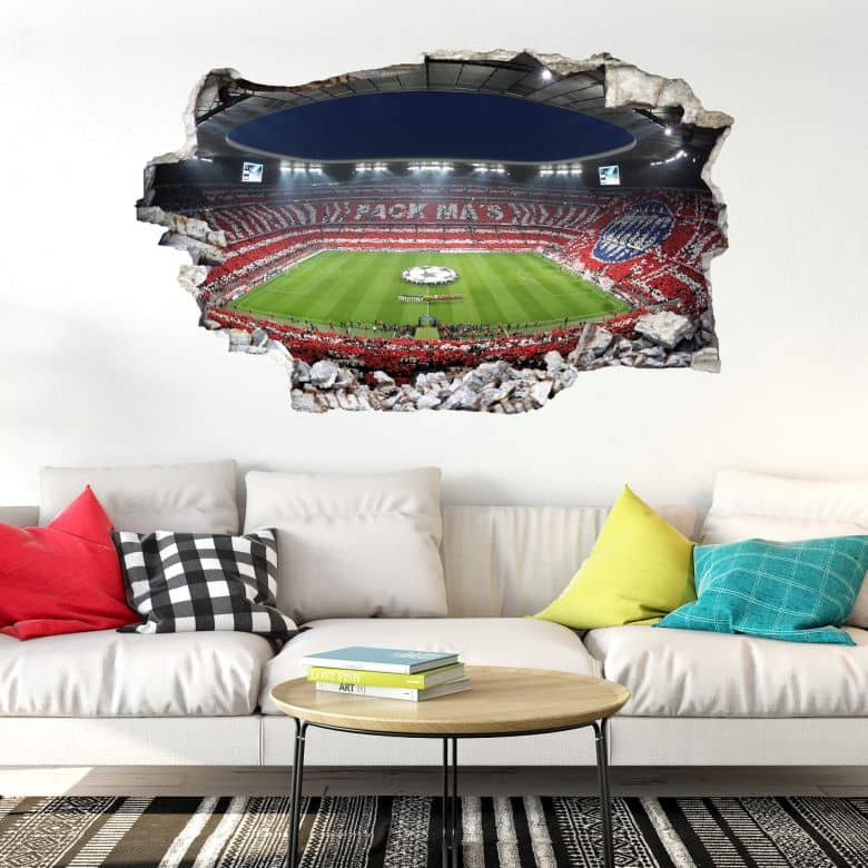 3d wandtattoo fc bayern pack mas wall. Black Bedroom Furniture Sets. Home Design Ideas