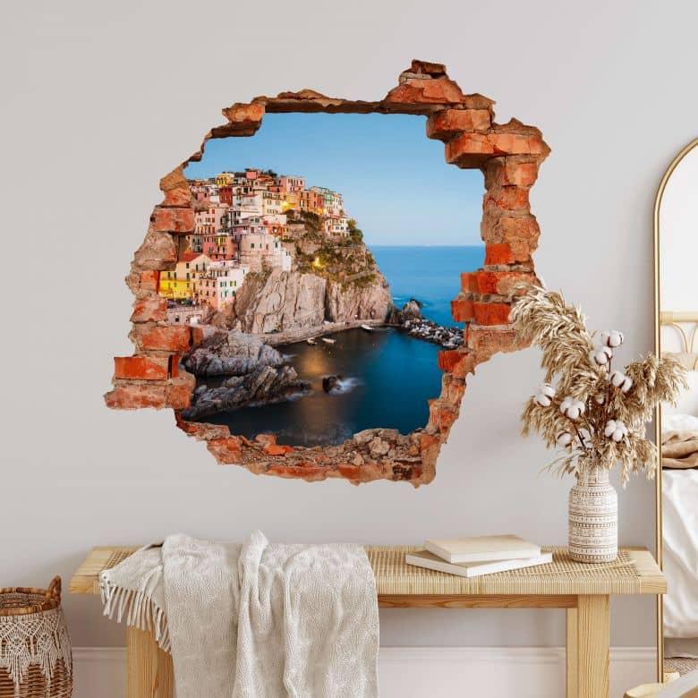 3D Sticker mural Colombo - Cinque Terre