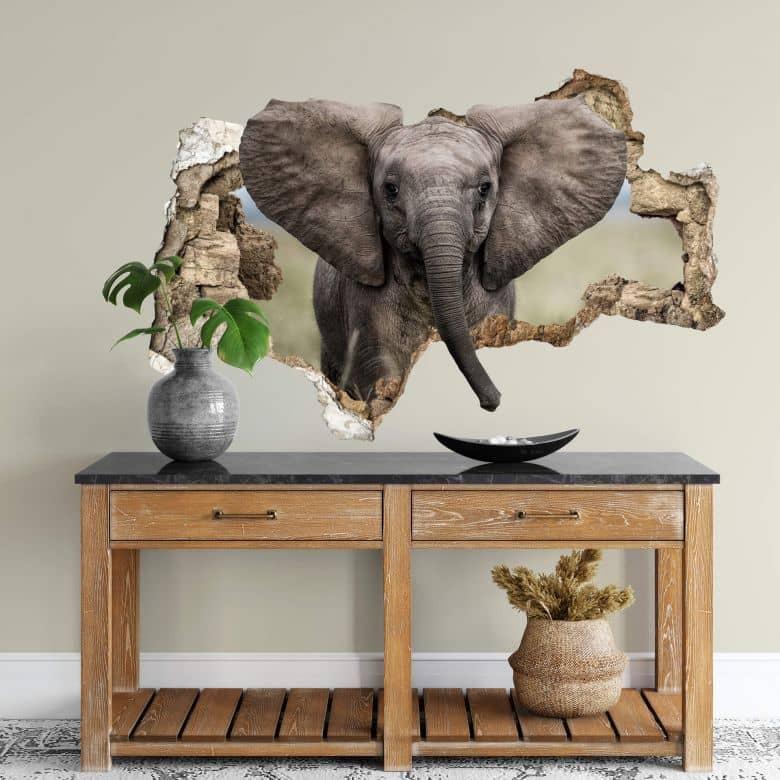Adesivo 3D van Duijn - Baby Elefante