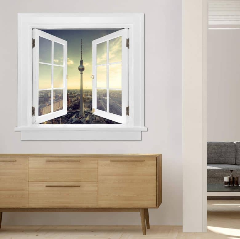 Trompe L'oeil Wall sticker - TV Tower Berlin