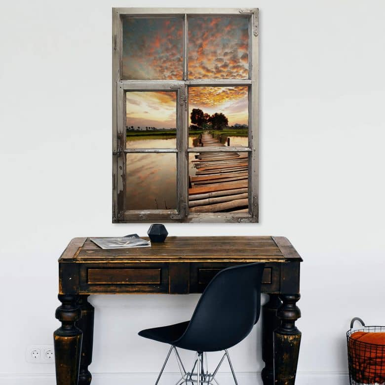 3D Wall sticker Shabby - to the other side